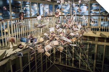 Clair le Couteur - Roots Between the Tides installation (detail)
